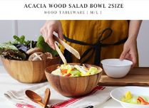 【ACACIA】ACACIA WOOD SALAD BOWL サラダボウル(Msize計2点)