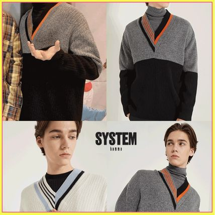 SYSTEM homme☆SEVENTEEN ウォヌ着用☆Color block knit sweater