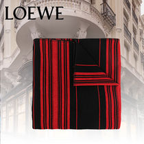 2021CR【LOEWE】Stripes blanket in wool and cashmere