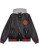 GUCCI | LYRE PATCH HOODED BOMBER JACKET フード付きジャケット