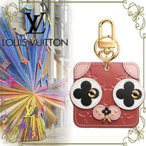 【LOUIS VUITTON 限定】 Animal Faces Bag Charm and Key Holder
