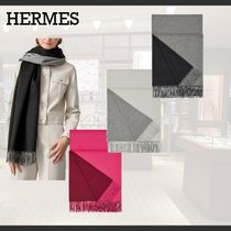 HERMES◆Double Face ストール◆カシミア
