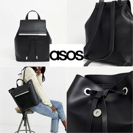 ★ASOS DESIGN★ backpack with bar detail【送料関税込】
