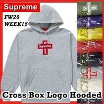 Supreme Cross Box Logo Hooded Sweatshirt FW 20 WEEK 15