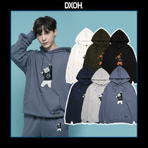 DXOH(ディソエイチ) パーカー・フーディ [DXOH] BEAR EMBROIDER HOODIE 6COLOR 送料無料 関税込み