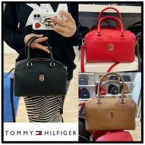 ★TOMMY HILFIGER★Logo lettering tote and cross bag★4色