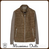 MassimoDutti♪SUEDE JACKET WITH CONTRAST KNIT DETAIL