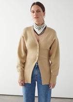 """""""& Other Stories""""新作☆Long Sculptural Knit Cardigan(beige)"""
