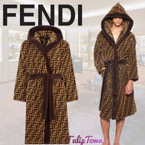【FENDI】 Multicolor fabric bathrobe フェンディ バスローブ