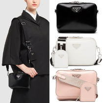 PR2480 BRUSHED LEATHER SHOULDER BAG WITH POUCH