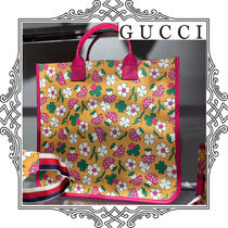 GUCCI Kids イエロー&ピンク トートバッグ 大人もOK すぐ届く