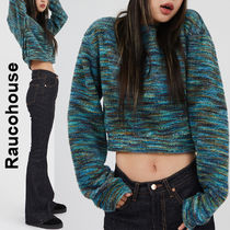 Raucohouse(ラウコハウス)★ Color Mixed Cropped Knit