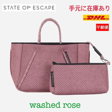 【State of Escape】Petite Guise/washed rose デニムプリント
