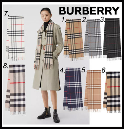 【BURBERRY】The Classic Check Cashmere Scarf ★安全発送