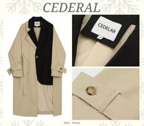 CEDERAL◆バイカラー デザイン トレンチコート