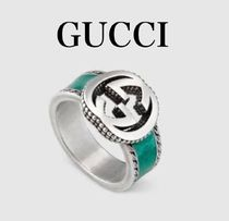 ★GUCCI★Ring with Interlocking G☆ターコイズリング☆