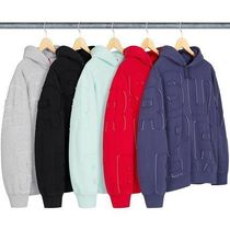 【送料関税込】Supreme Cutout Letters Hooded Sweatshirt
