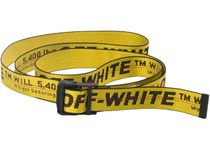 OFF-WHITE Industrial Belt Yellow/Black SS19