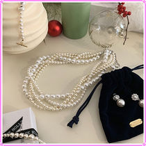 【VINTAGE HOLLYWOOD】Braid Pearl Bold Necklace〜2020 holiday