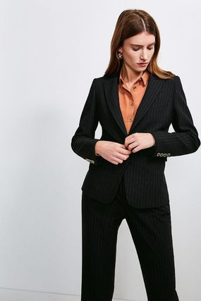 Pinstripe Fitted Jacket