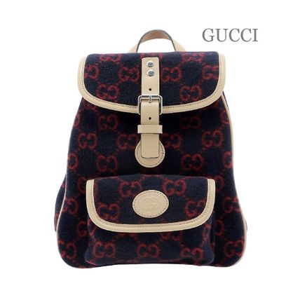 GUCCI ★送料込み★ KIDS ウールバックパック ★ Blue and Red