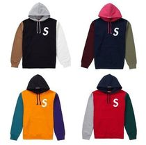 【送料関税込】Supreme S Logo Colorblocked Hooded Sweatshirt