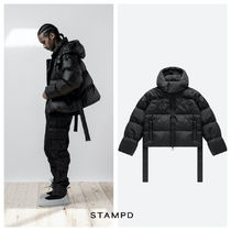★STAMPD PUFFER CROPPED ダウンジャケット ロゴ 送料込★