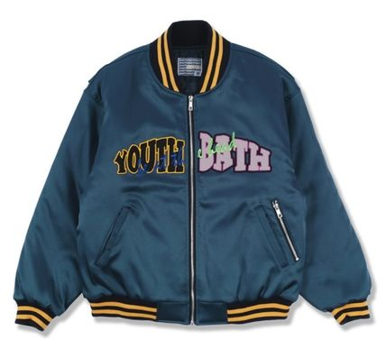 YOUTHBATH ブルゾン ★YOUTHBATH★LOGO MA-1 FLIGHT BOMBER JACKE.T★ジャケット★(15)