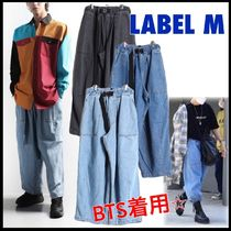 ★BTS着用!★【LABEL M】DENIM BELT BALLOON PANTS/3色
