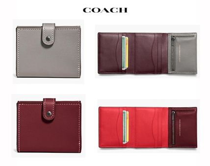 ●COACH●Small Trifold Wallet●グラブタン レザ