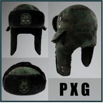 【PXG】カモ柄 スカル&ロゴ DARKNESS TRAPPER HAT