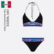 Off White logo-detailed lycra bikini