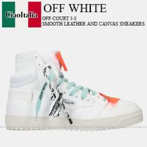 Off White Off-Court 3.0 smooth leather and canvas sneakers