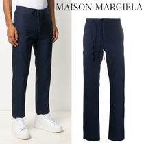MAISON MARGIELA FRANNEL TROUSERS WITH DRAWSTRINGS