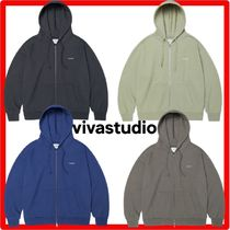 ★韓国の人気★【VIVASTUDIO】★BASIC LOGO HOODIE ZIP UP J.A★