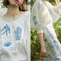 Embroidered Silk Linen Top☆バットスリーブが魅力的な1着◎