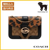【COACH】Georgie Crossbody In Signature Canvas◆国内発送◆