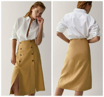Massimo Dutti【NEW】VENTED SKIRT WITH BUTTONS
