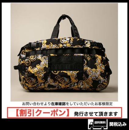1055【Versace Jeans Couture】バロック柄ダッフルバッグ