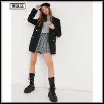 New Look soft textured oversized blazer coat in black
