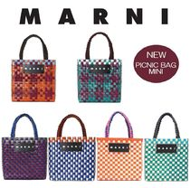 【新作】MARNI MARKET★ PICNIC BAG MINI★Cotton jersey handle