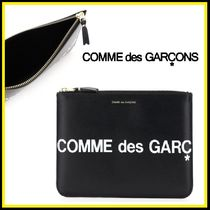 COMME des GARCONS★ロゴ付きレザーポーチ【関税込・国内発】