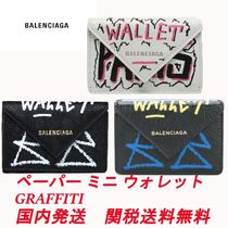 バレンシアガ BALENCIAGA Papier Mini Wallet Graffiti ミニ財布
