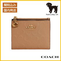【COACH】Snap Card Case In Signature Leather◆国内発送◆
