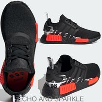 【大人もOK】adidas NMD_R1 Shoes☆英国発☆Black / Solar Red