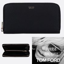 【TOM FORD】GRAINY LEATHER ZIP-AROUND WALLET*