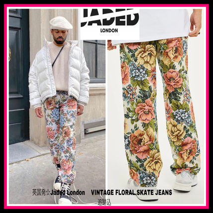 英国発☆Jaded London  VINTAGE FLORAL SKATE JEANS 追跡込