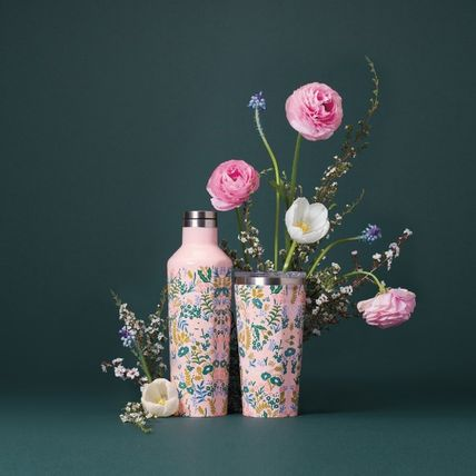 Rifle Paper.Co タンブラー ≪ RIFLE PAPER CO.×CORKCICLE.  ≫  CANTEEN TAPESTRY 16oz(4)