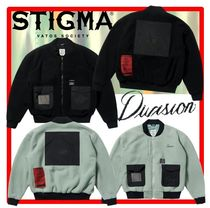 ★人気★【STIGMA】★BLEND OVERSIZED FLEECE MA-1 JACKE.T★