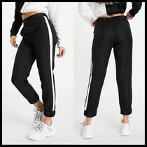 ASOS DESIGN woven jogger with side stripe